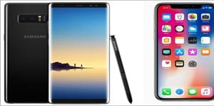 Samsung Note 8 mi? Yoksa Apple iPhone X mi?
