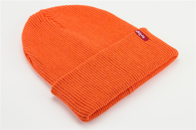 Ribbed Beanie Orange