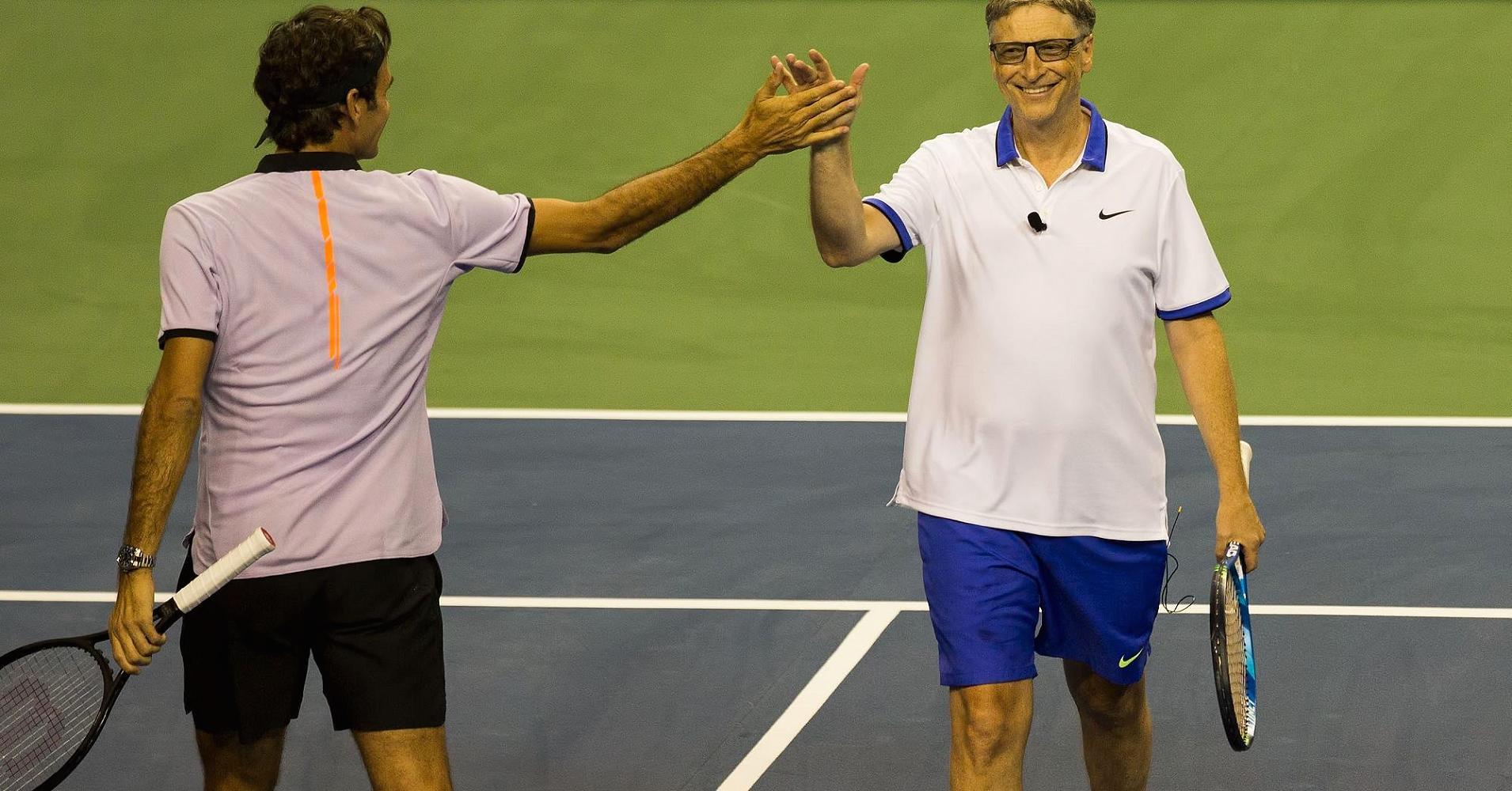 Bill Gates İle Federer Tenis Maçına Hazırlanıyor - Boxer Dergisi